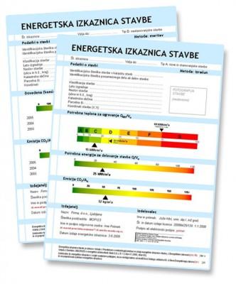 2 tipa energetske izkaznice